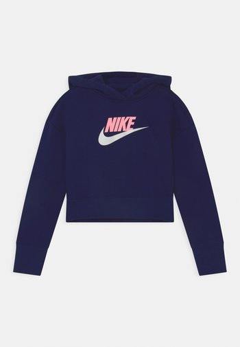 CLUB CROP HOODIE - Sweatshirt - blue void/arctic punch/white