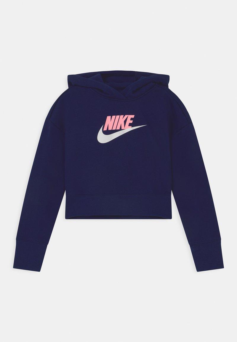 Nike Sportswear - CLUB CROP HOODIE - Sweatshirt - blue void/arctic punch/white