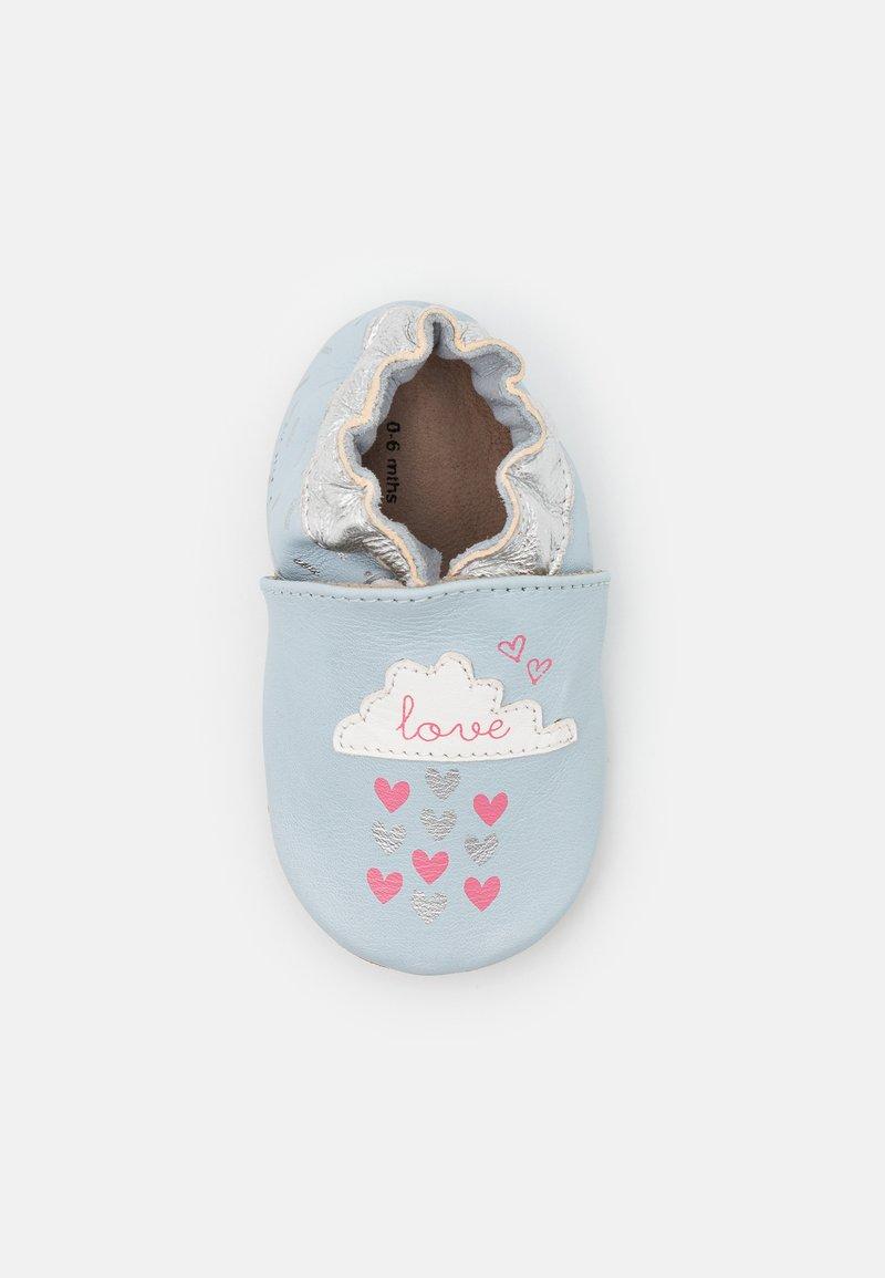 Robeez - HEARTS RAIN - First shoes - bleu clair