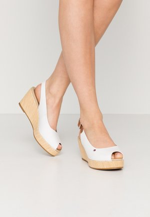 ELBA - Wedge sandals - ivory