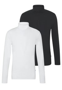 Pier One - 2 PACK - Long sleeved top - white/black - 0