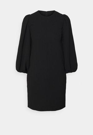 BLOUSON SLEEVE SHIFT DRESS - Jurk - black