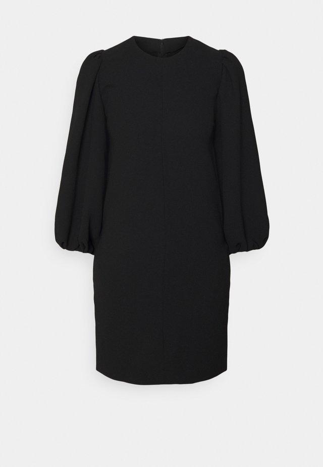 BLOUSON SLEEVE SHIFT DRESS - Day dress - black