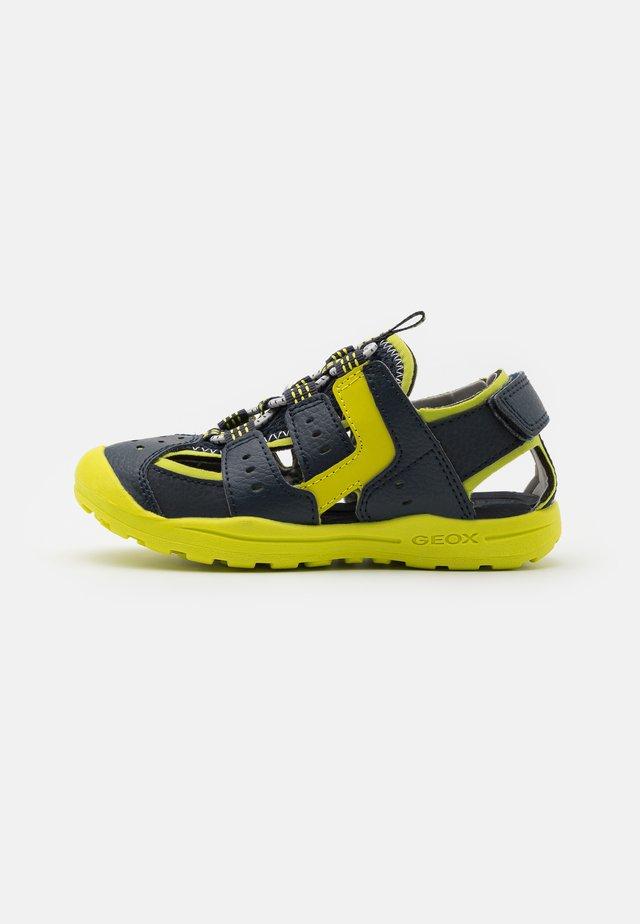 VANIETT BOY - Sandales de randonnée - navy/lime