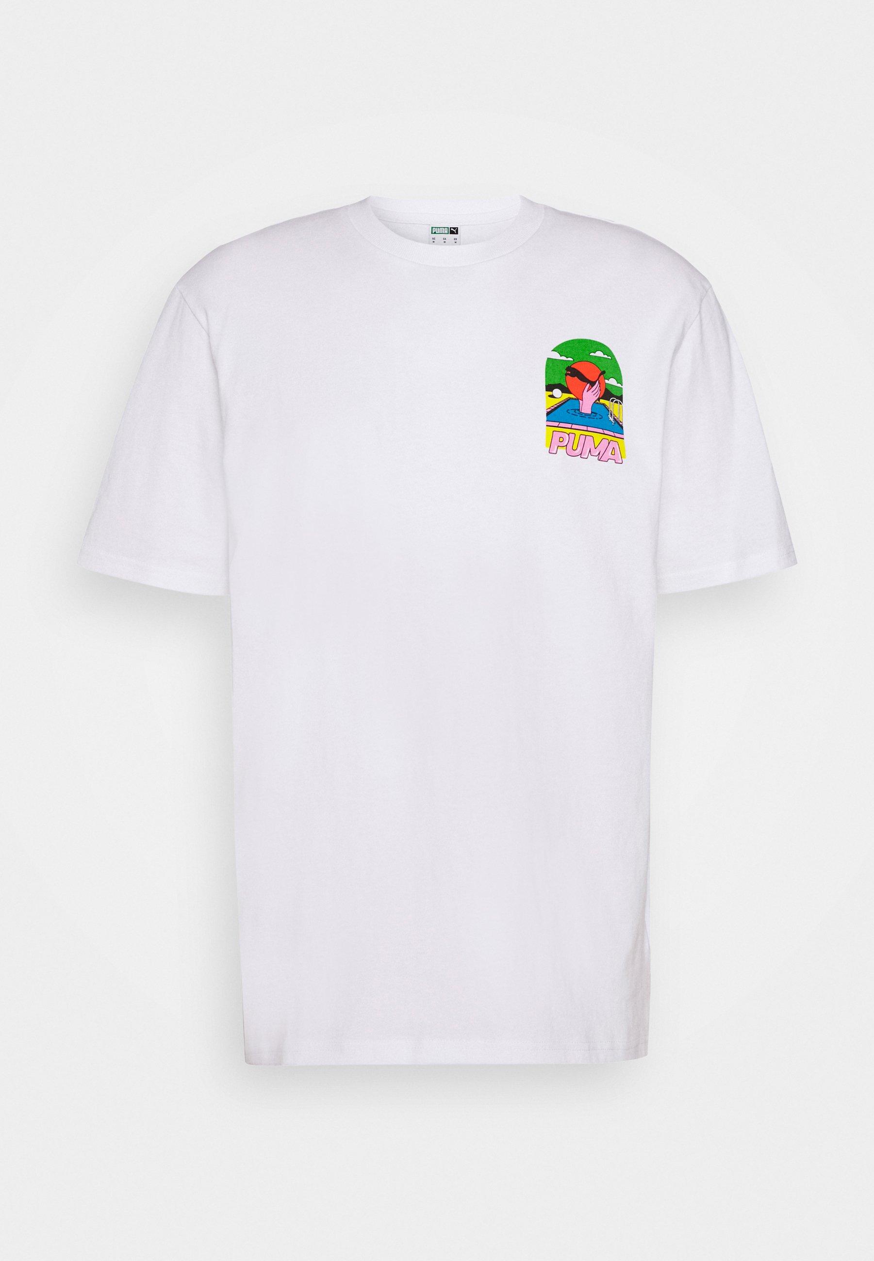 DOWNTOWN GRAPHIC TEE T Shirt print white
