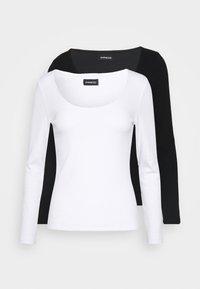 Even&Odd - 2 PACK - Top sdlouhým rukávem -  black/white - 4