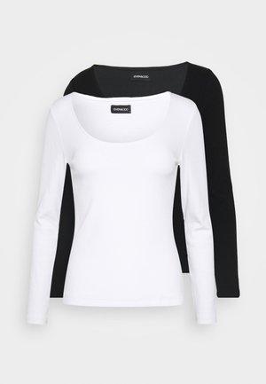 2 PACK - Langærmede T-shirts -  black/white