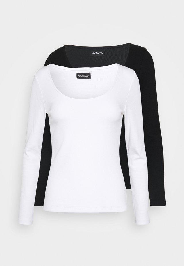 2 PACK - T-shirt à manches longues -  black/white