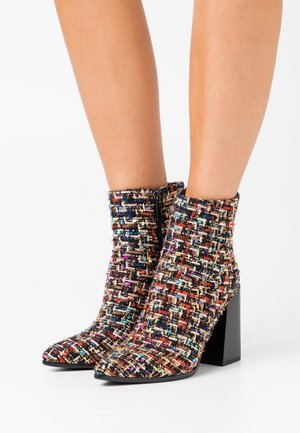 High heeled ankle boots - multicolor