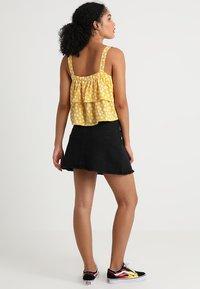 TWINTIP - Mini skirt - black denim - 2