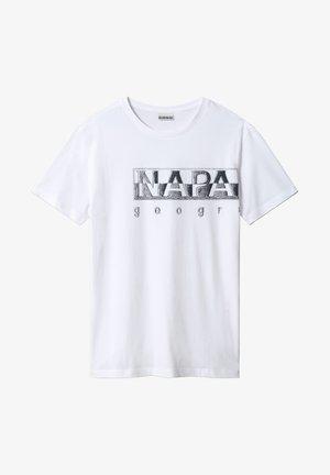 SALLAR LOGO - Print T-shirt - bright white