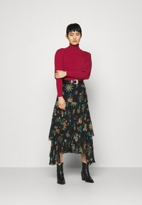 Farm Rio - PUFF SLEEVE TURTLENECK - Jumper - burgundy - 1