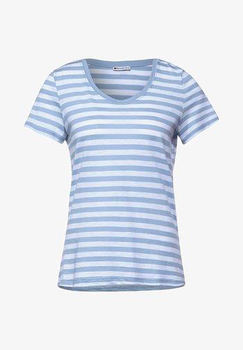 IM STREIFEN - Print T-shirt - blau