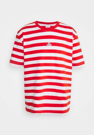 HANGER STRIPED TEE - T-shirt con stampa - red/white