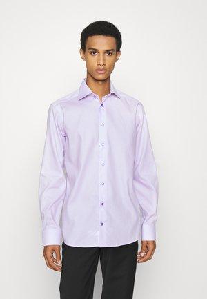 Slim Fit - Micro Checked Twill Shirt - Zakelijk overhemd - purple