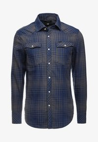 G-Star - 3301 SLIM - Shirt - indigo/carbid - 3