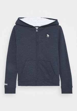 SHERPA LOGO - Zip-up hoodie - sky capitan