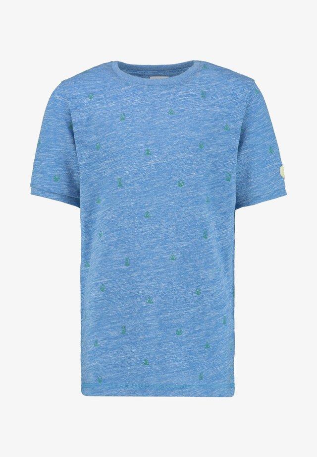 YERICK - Print T-shirt - ocean blue