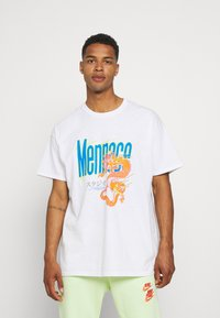 Mennace - HAVANA FLAMING DRAGON - Print T-shirt - off white - 0