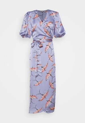 SLEEVE SWALLOW WRAP DRESS - Cocktail dress / Party dress - purple