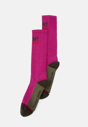 VINTAGE CUT SOCKS 2 PACK UNISEX - Ponožky - dark purple/olive