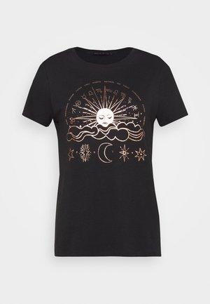 ONYRANDI HOROSCOPE - T-shirts med print - black