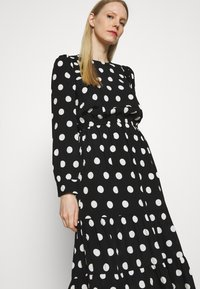 Marks & Spencer London - SPOT VOLUME MIDI - Day dress - black - 3