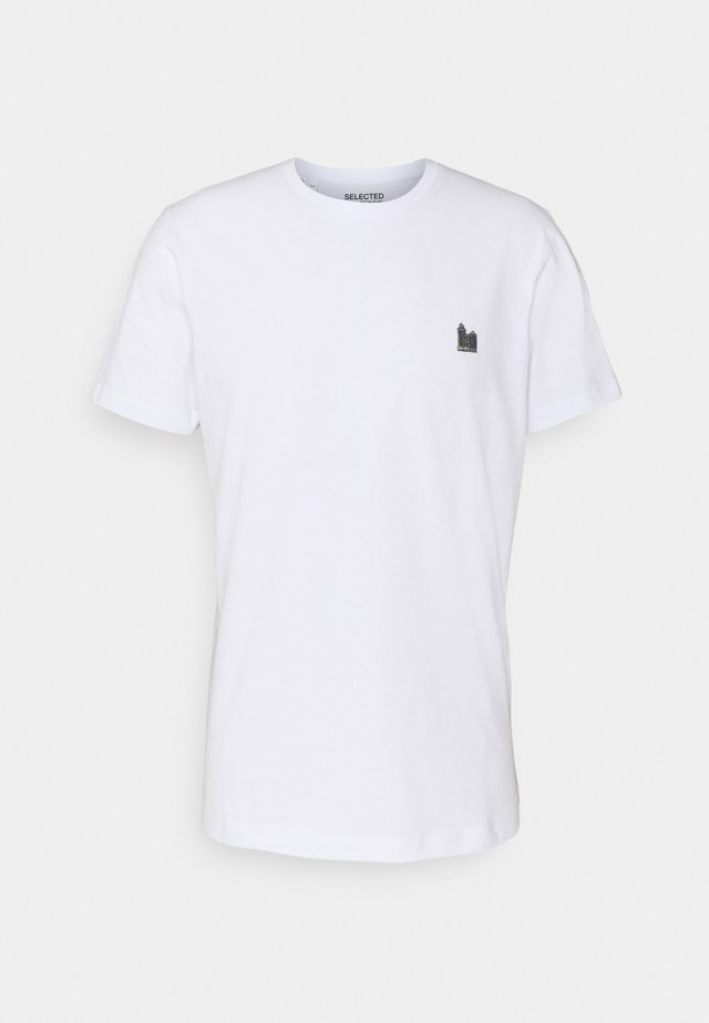 SLHJUDE O NECK TEE - T-paita - bright white