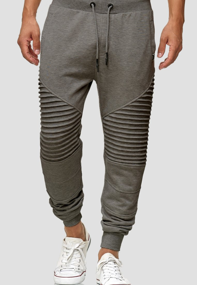 INDICODE JEANS - Tracksuit bottoms - anthracite