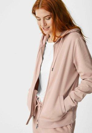 Zip-up hoodie - roségold