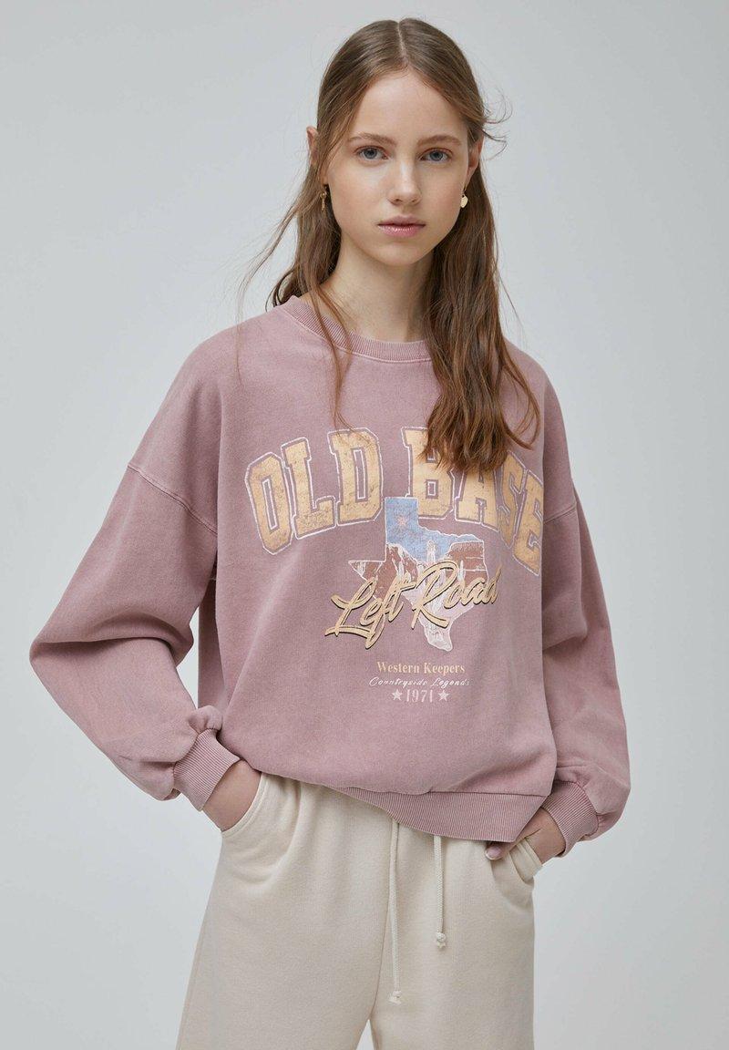 PULL&BEAR - Sweatshirts - rose