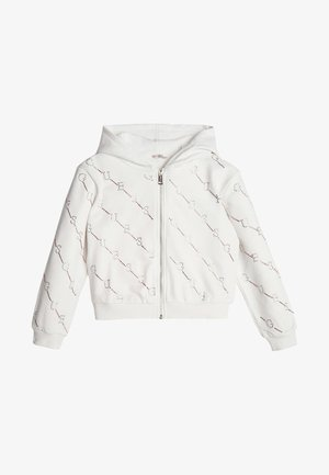 STRASS - Zip-up sweatshirt - white