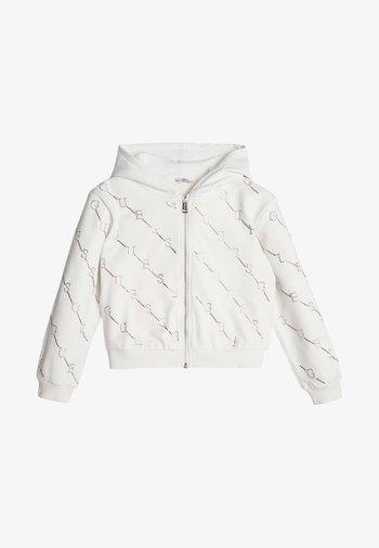 STRASS - Zip-up hoodie - white
