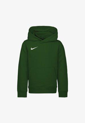PARK  - Sweat à capuche - pine green / white