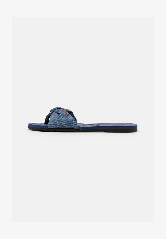 YOU TROPEZ SHINE - Sandalias de dedo - navy blue