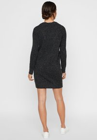 Vero Moda - VMDOFFY O-NECK DRESS - Strikket kjole - black - 2