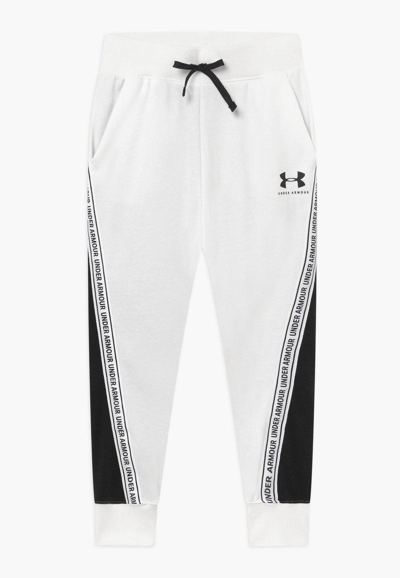 Under Armour - RIVAL PANTS - Tracksuit bottoms - onyx white/black