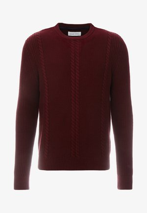 Jumper - mottled bordeaux