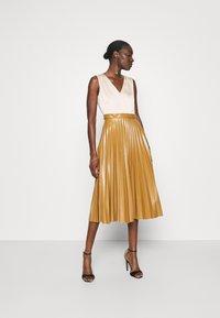 Closet - PLEATED SKIRT DRESS - Day dress - beige - 1