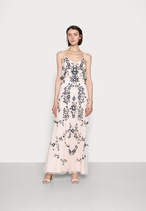 BEADED BLOUSON GOWN - Occasion wear - pale pink