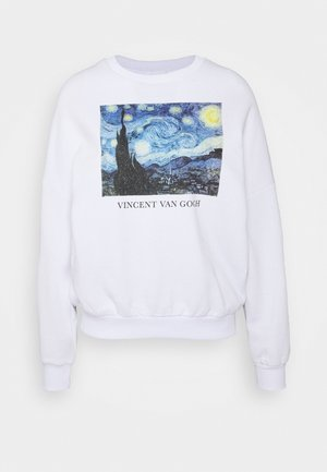 Loose Fit Printed Sweatshirt - Mikina - white