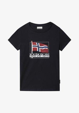 SEJI - Print T-shirt - blu marine