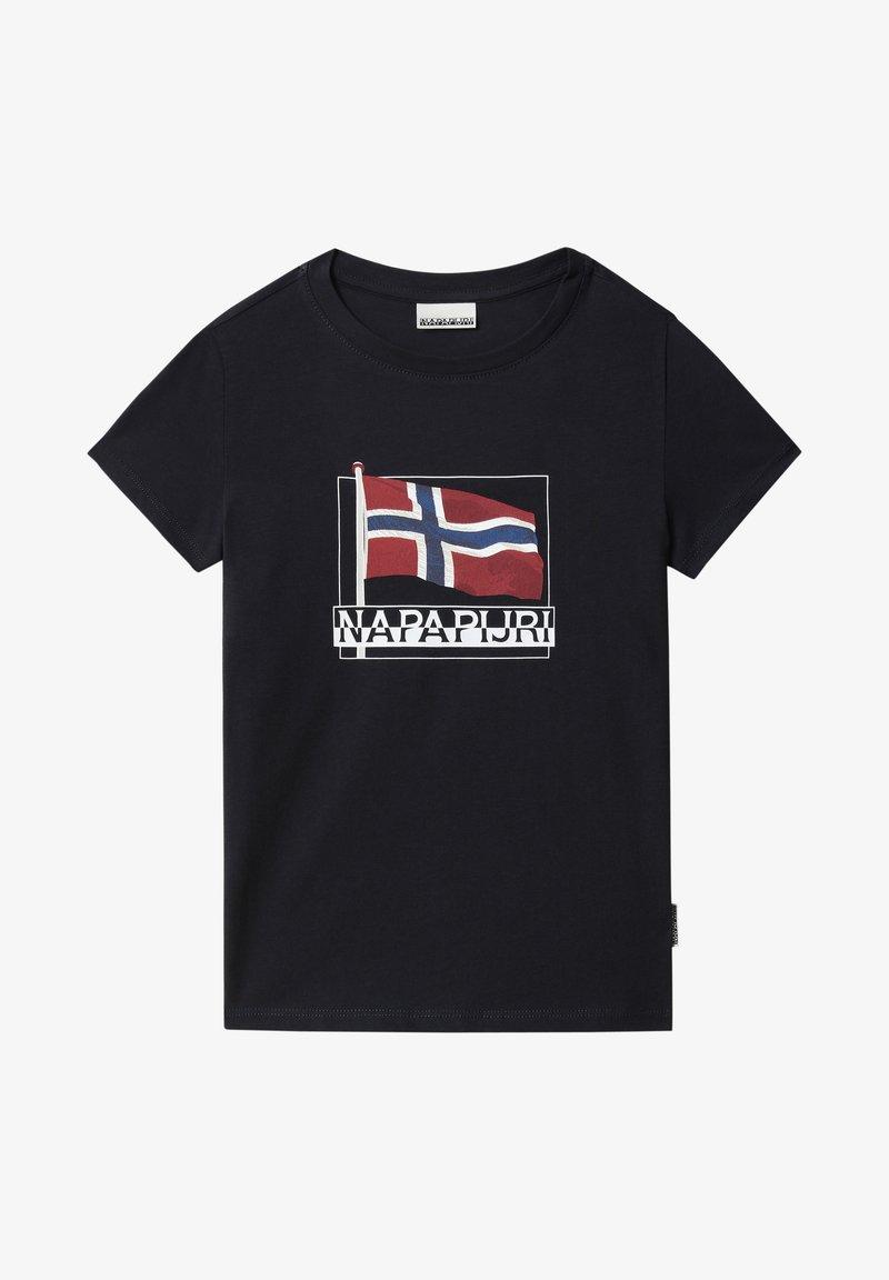 Napapijri - SEJI - Print T-shirt - blu marine