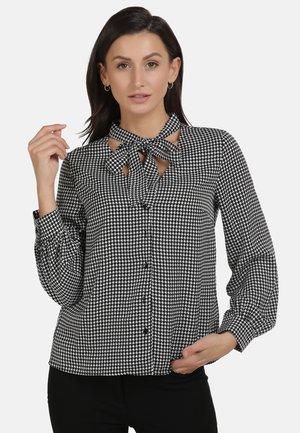 Button-down blouse - schwarz weiss
