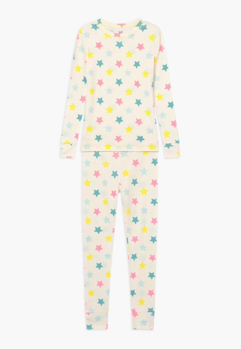 GAP - GIRL STAR SET  - Pijama - snowflake milk