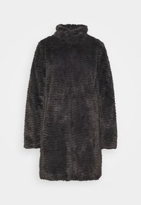 Dorothy Perkins - FUNNEL COLLAR TEXTURED LONGLINE  - Winter coat - slate - 4
