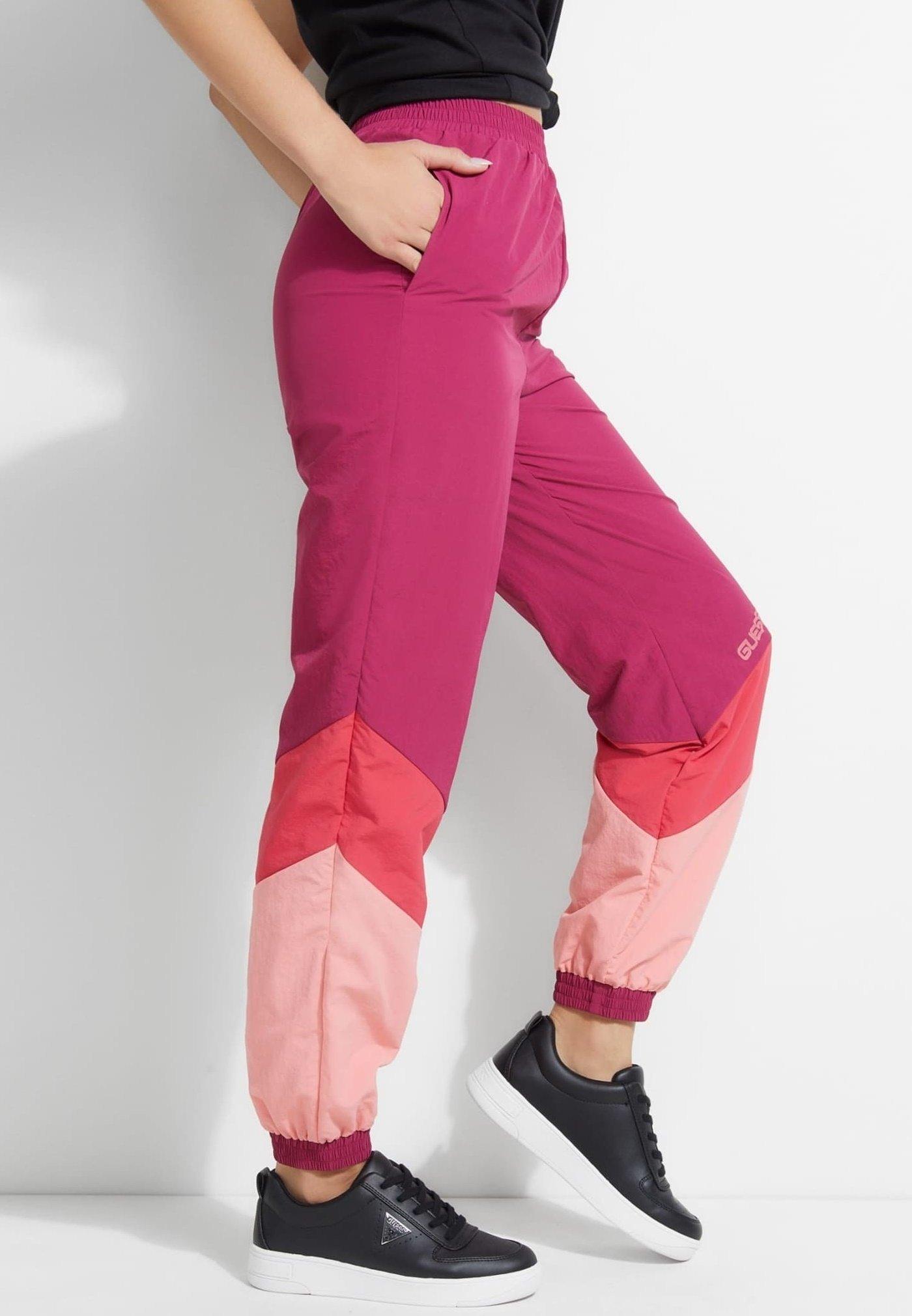 Guess Pantalon classique - roze multi OuNjcWDi