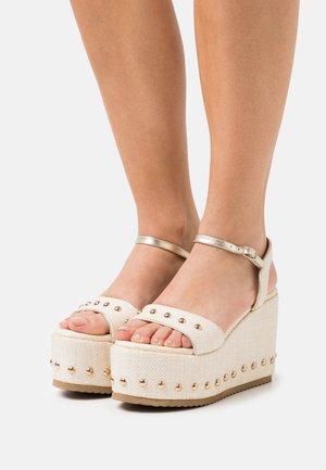 MIA - Sandales à plateforme - beige