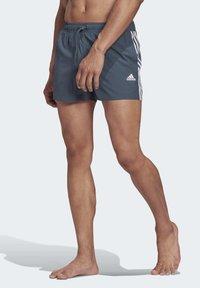 adidas Performance - STRIPES CLX SWIM SHORTS - Bañador - blue - 3