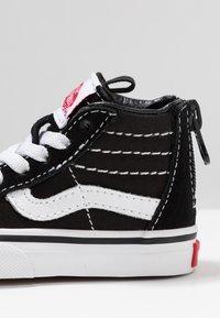 Vans - TD SK8 ZIP - Chaussures premiers pas - black/white - 2